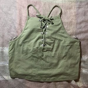 Forever 21 Lace Up Tank